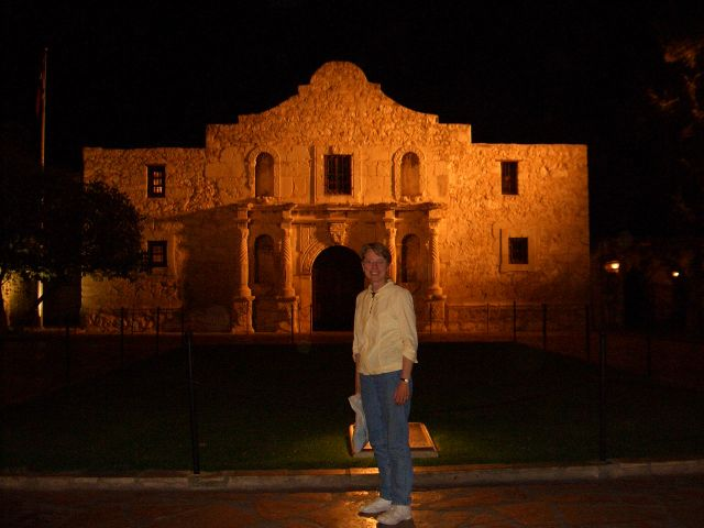 Alamo at night!