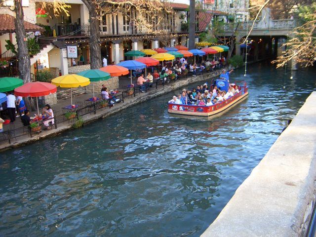 Boat on the River Walk